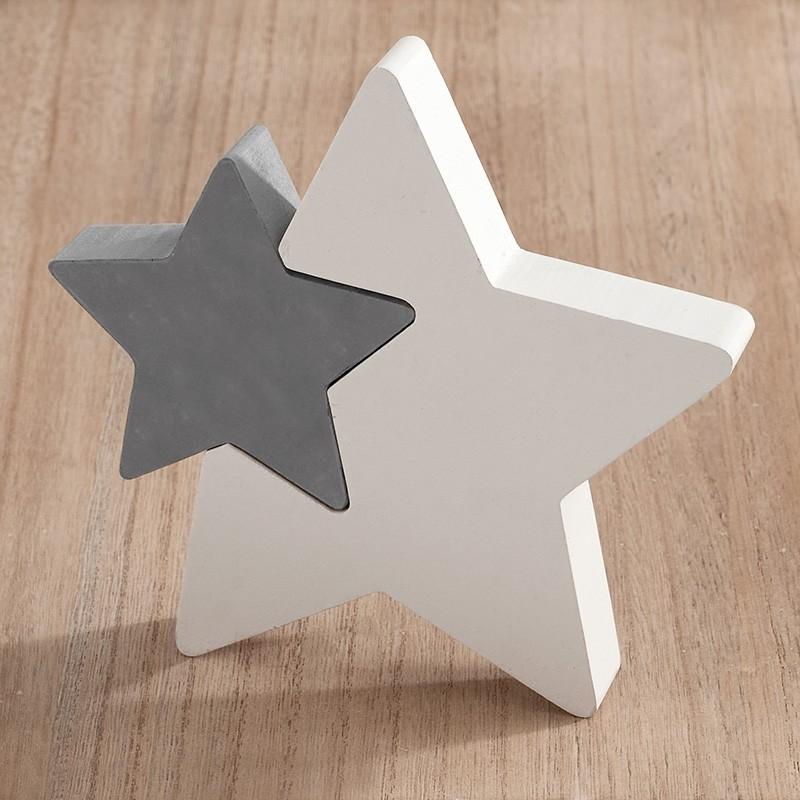 Μπομπονιέρα Βάπτισης Ξύλινο διακοσμητικό αστέρι