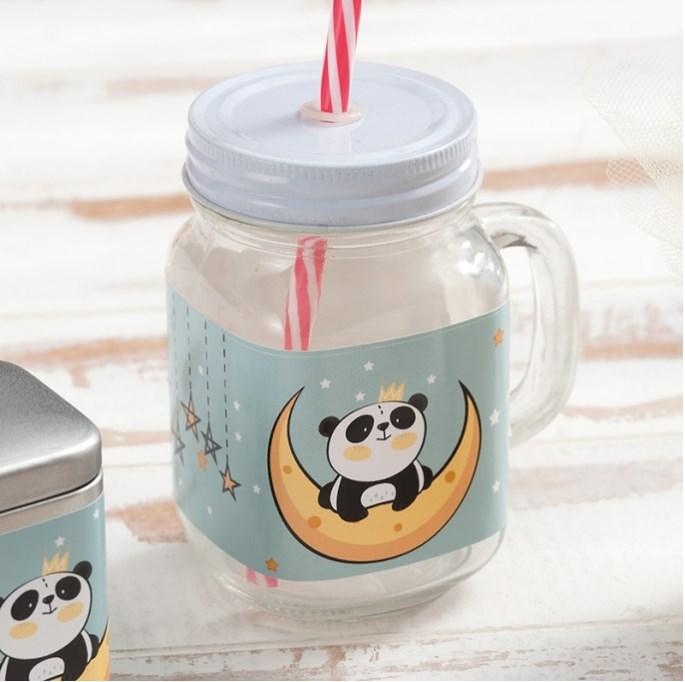 Γυάλινη κούπα Panda ΜΠΟΜΠΟΝΙΕΡΑ ΒΑΠΤΙΣΗΣ-ΓΑΜΟΥ ΔΙΑΚΟΣΜΗΤΙΚΟ ΝΕΟ ΣΧΕΔΙΟ 2019