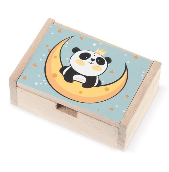Ξύλινο Κουτί panda ΜΠΟΜΠΟΝΙΕΡΑ ΒΑΠΤΙΣΗΣ-ΓΑΜΟΥ ΝΕΟ ΣΧΕΔΙΟ 2019