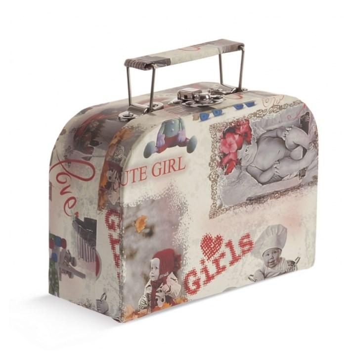 Κουτί βαλιτσάκι για προσκλητήριο Floral