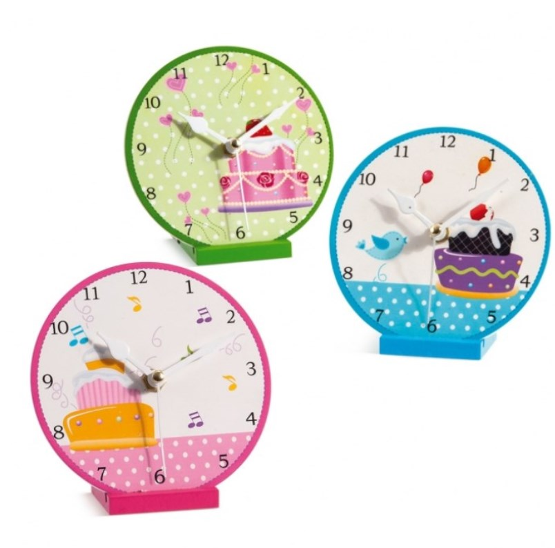 Ξύλινο ρολόι Cupcakes μπομπονιερα βαπτισης σε προσφορα