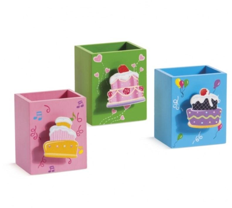 Μολυβοθηκη με μανταλάκι Cupcakes Μπομπονιερα Βαπτισης