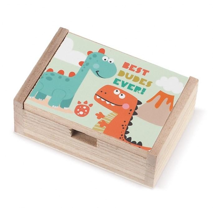 Ξύλινο κουτί Δεινόσαυρος ΜΠΟΜΠΟΝΙΕΡΑ ΒΑΠΤΙΣΗΣ-ΓΑΜΟΥ ΝΕΟ ΣΧΕΔΙΟ 2019
