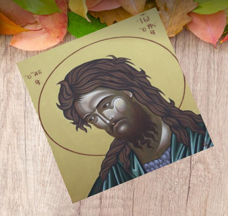 ΕΙΚΟΝΑ ΑΓΙΟΣ ΙΩΑΝΝΗΣ ΞΥΛΙΝΗ ΜΠΟΜΠΟΝΙΕΡΑ ΒΑΠΤΙΣΗΣ ΟΙΚΟΝΟΜΙΚΗ ΤΙΜΗ 11Χ11
