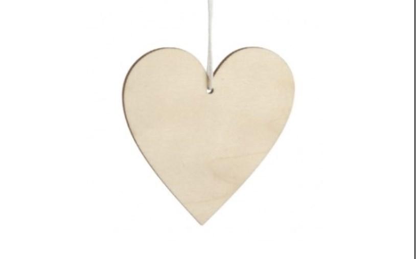 Κρεμαστή Καρδιά υλικα μπομπονιερας
