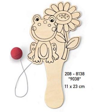 ρακετα ξυλινη ζωακι βατραχος μπομπονιερα βαπτισης οικονομικη