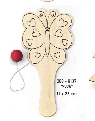ρακετα ξυλινη πεταλουδα μπομπονιερα βαπτισης οικονομικη