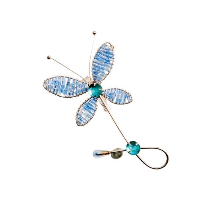 Πεταλούδα συρμάτινη καρφίτσα