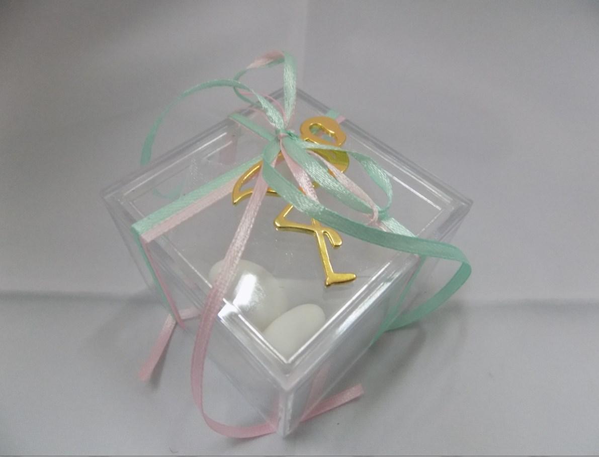Κουτακι Plexiglas Τετραγωνο Δεμενο Ετοιμο Με 5 Κουφετα Κλασικα Και Με φλαμινγκο Χρυσο Μοναδικο Αναμνηστικο Γαμου Κατασκευη Εργαστηριου Μας
