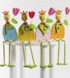 Βατραχος με λουλούδι διακοσμητικό ξυλινη μπομπονιερα βαπτισης